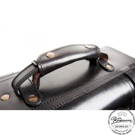 """Кожаный портфель-кофр ручной работы """"Сордо"""" (чёрный) - 9"""