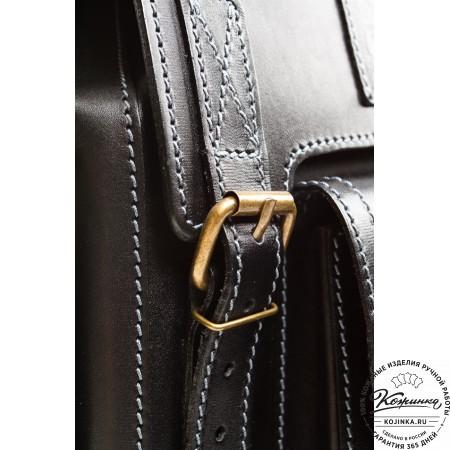 """Кожаный рюкзак """"Кэмэл"""" (чёрный) - 6"""