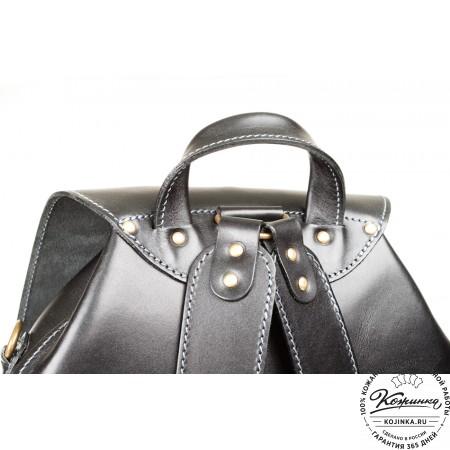 """Кожаный рюкзак """"Кэмэл"""" (чёрный) - 3"""