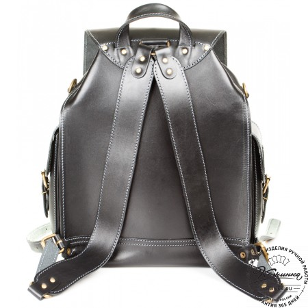 """Кожаный рюкзак """"Кэмэл"""" (чёрный) - 13"""
