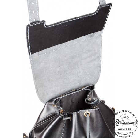 """Кожаный рюкзак """"Кэмэл"""" (чёрный) - 11"""