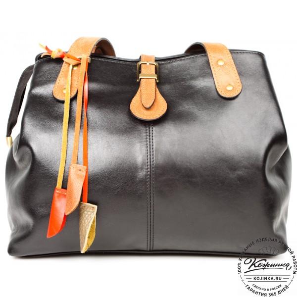 """Женская кожаная сумка """"Энни"""" (черная). фото 1"""