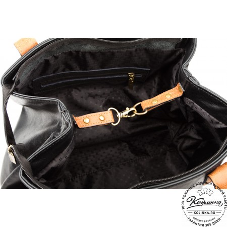 """Женская кожаная сумка """"Энни"""" (черная)"""