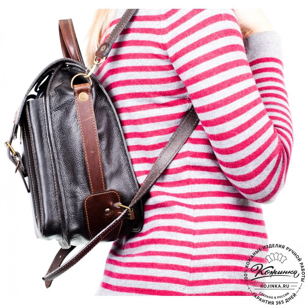 """Женский кожаный рюкзак ручной работы """"Элис"""""""