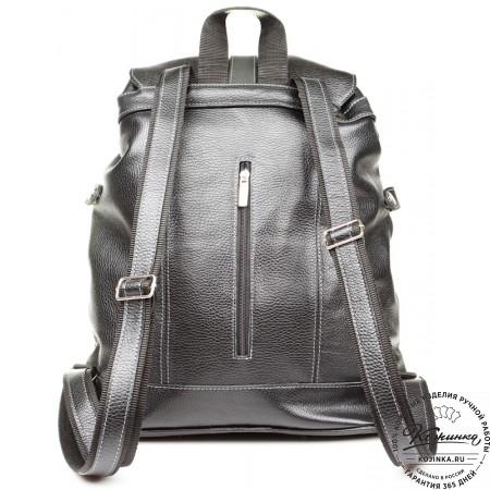 """Кожаный рюкзак ручной работы """"Эверест"""" (черный) - 2"""