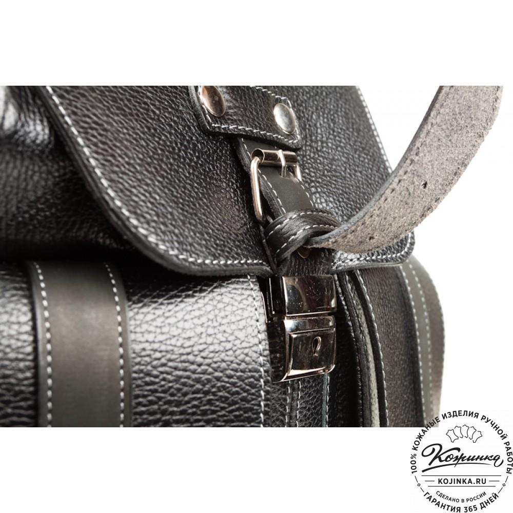 """Кожаный рюкзак ручной работы """"Эверест"""" (черный)"""