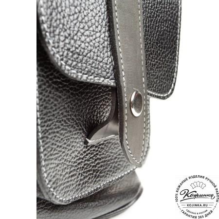 """Кожаный рюкзак ручной работы """"Эверест"""" (черный) - 3"""