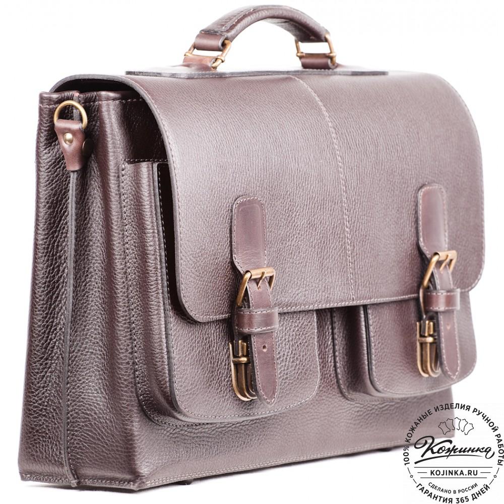 87b1fa489f30 Кожаный портфель ручной работы