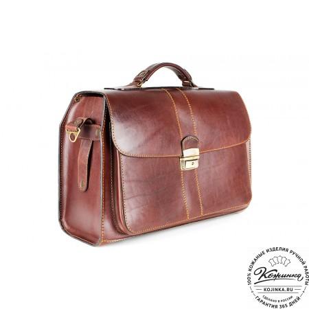 """Кожаный портфель ручной работы """"Фердинанд"""" (коричневый) - 5"""