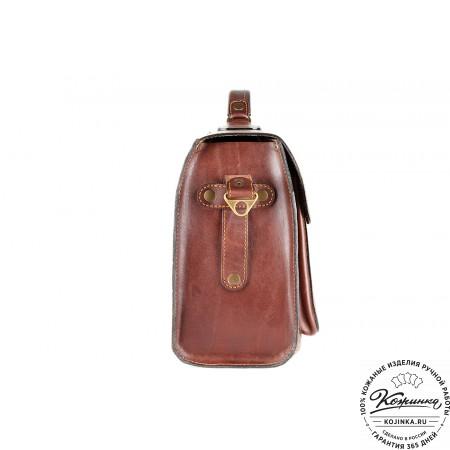 """Кожаный портфель ручной работы """"Фердинанд"""" (коричневый) - 6"""
