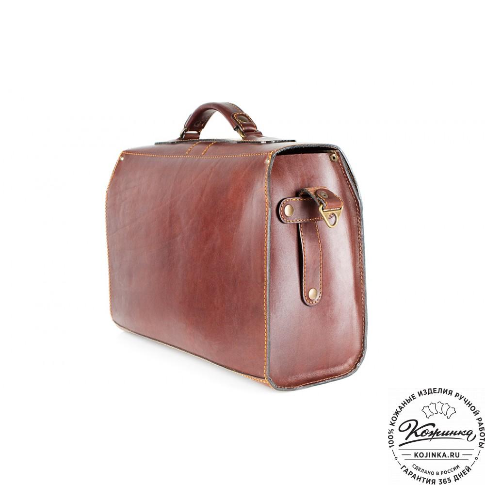 """Кожаный портфель ручной работы """"Фердинанд"""" (коричневый)"""