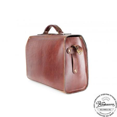 """Кожаный портфель ручной работы """"Фердинанд"""" (коричневый) - 4"""