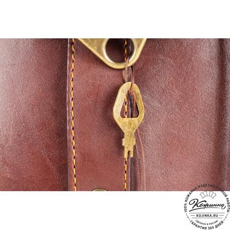 """Кожаный портфель ручной работы """"Фердинанд"""" (коричневый) - 2"""