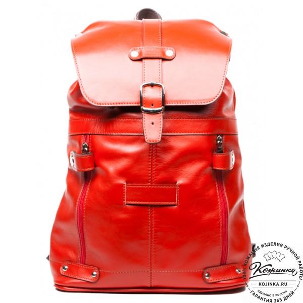 Рюкзак женский кожаный «Вспышка». фото 1