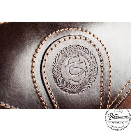 """Кожаный рюкзак """"Стиль 2"""" (коричневый) - 22"""