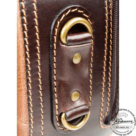 """Кожаный рюкзак """"Стиль 2"""" (коричневый) - 12"""