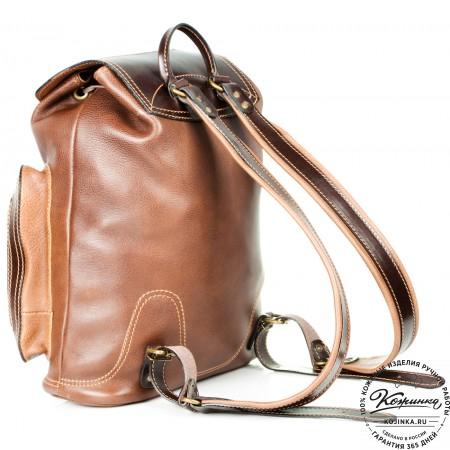 """Кожаный рюкзак """"Стиль 2"""" (коричневый) - 6"""