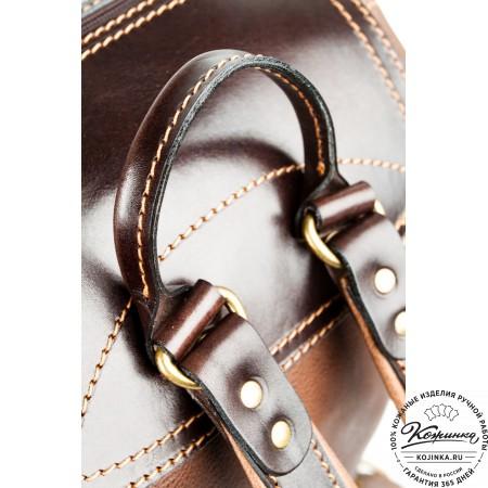 """Кожаный рюкзак """"Стиль 2"""" (коричневый) - 20"""