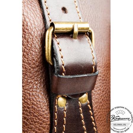 """Кожаный рюкзак """"Стиль 2"""" (коричневый) - 18"""