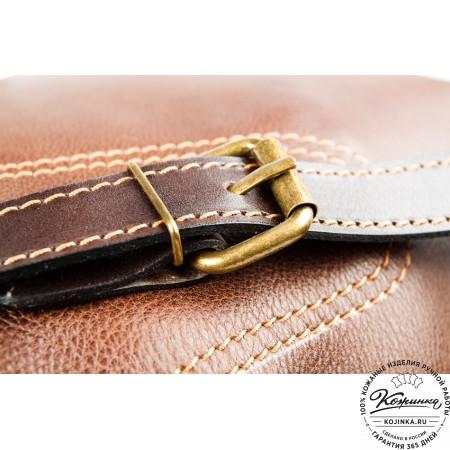 """Кожаный рюкзак """"Стиль 2"""" (коричневый) - 11"""