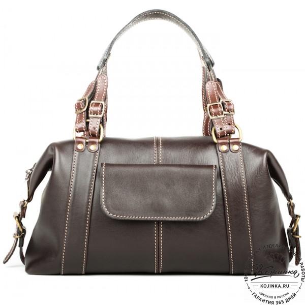 """Женская кожаная сумка """"Эколь"""" (коричневая). фото 1"""