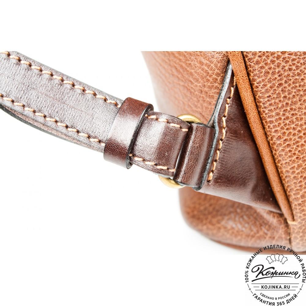"""Женский кожаный рюкзак """"Гейша"""" (коричневый)"""