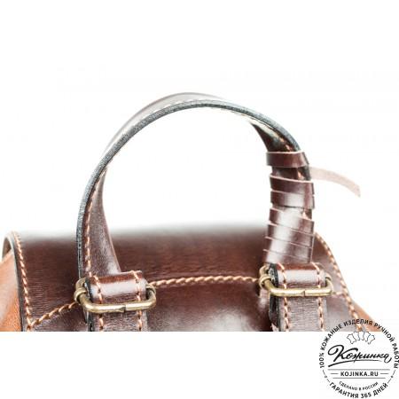 """Женский кожаный рюкзак """"Гейша"""" (коричневый) - 11"""