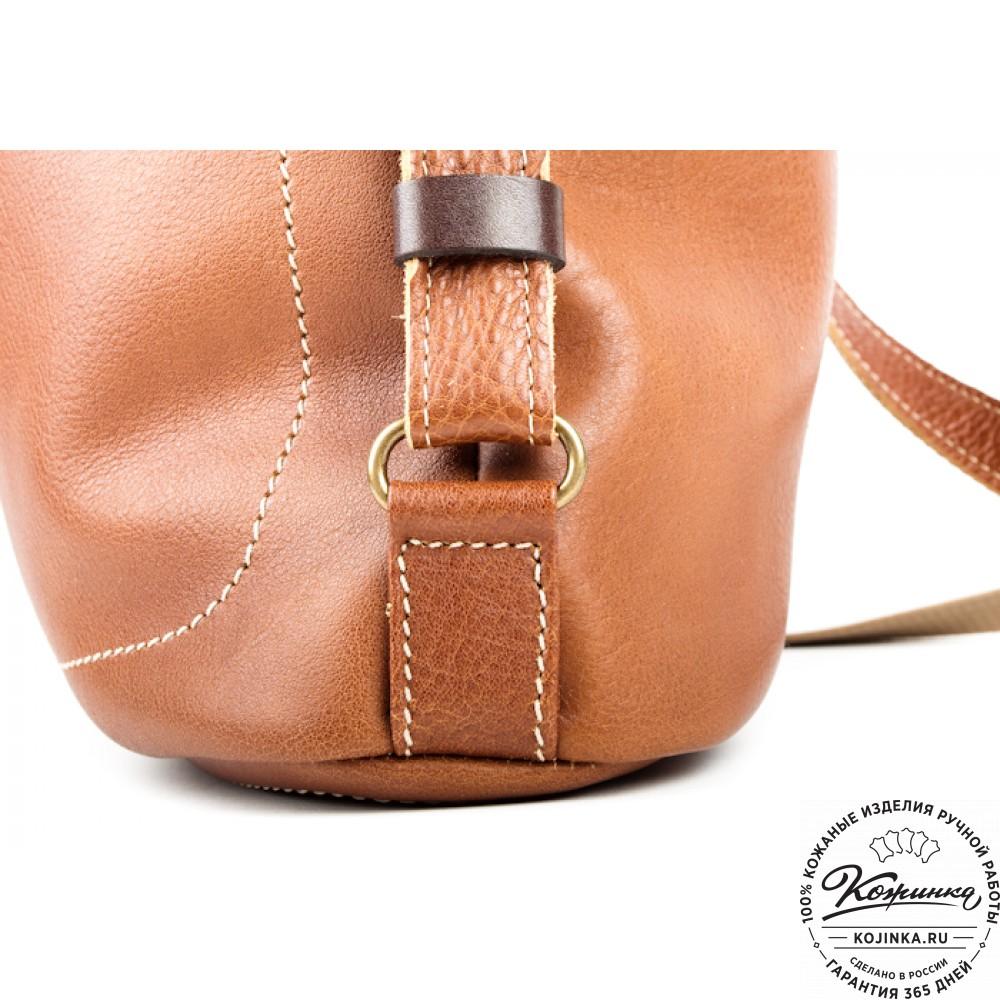 """Женская кожаная сумка-рюкзак """"Афина"""" (коричневая)"""