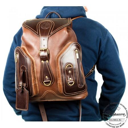 """Кожаный рюкзак """"Стиль 2"""" (коричневый) - 9"""