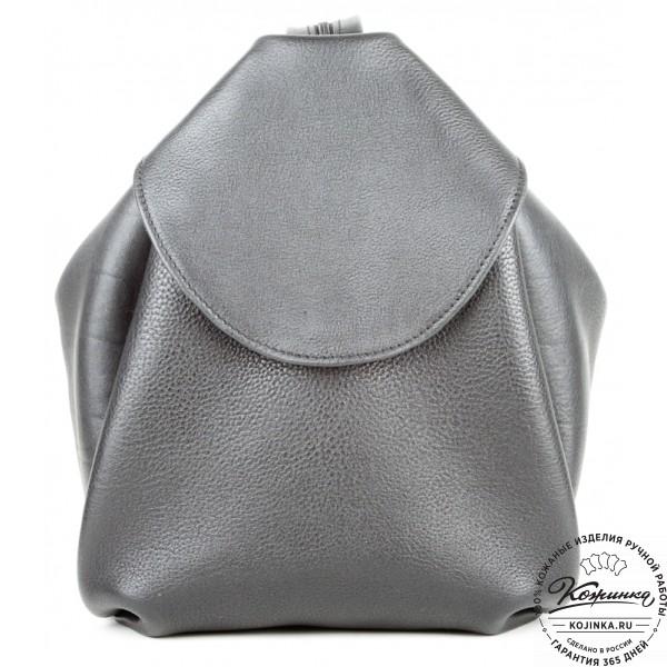 """Кожаный рюкзак-сумка """"Микки"""" (черный). фото 1"""