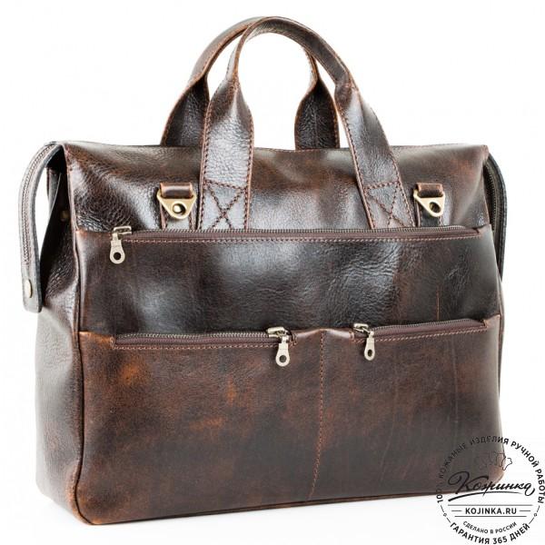 """Кожаная деловая сумка """"Марк"""" (эксклюзив). фото 1"""