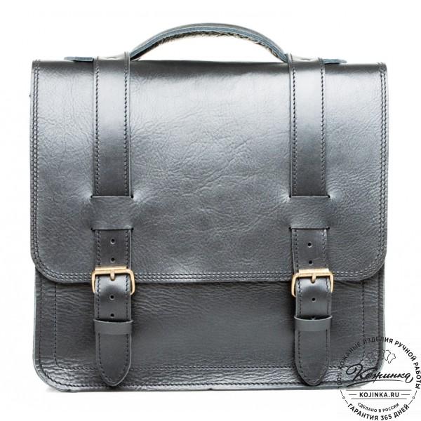 """Кожаный портфель """"Тесла"""" (черный). фото 1"""