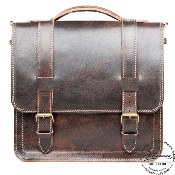 """Кожаный портфель """"Тесла"""" (коричневый эксклюзив). фото 1"""