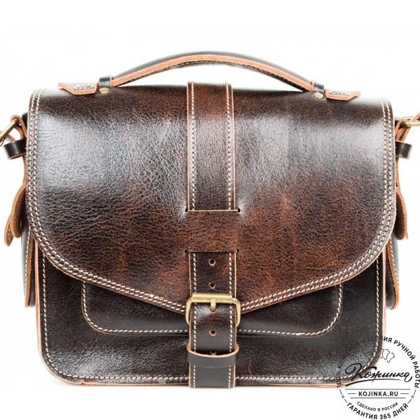 """Кожаная  сумка """"Виктория"""" (коричневый эксклюзив). фото 1"""