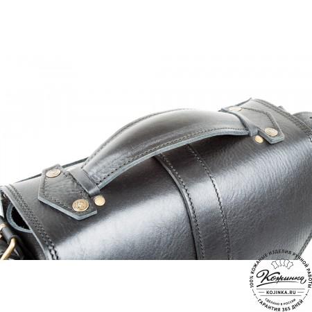 """Кожаная  сумка """"Виктория"""" (черная)"""