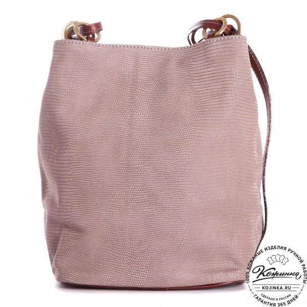 """Кожаная сумка """"Хлоя"""" (серая). фото 1"""
