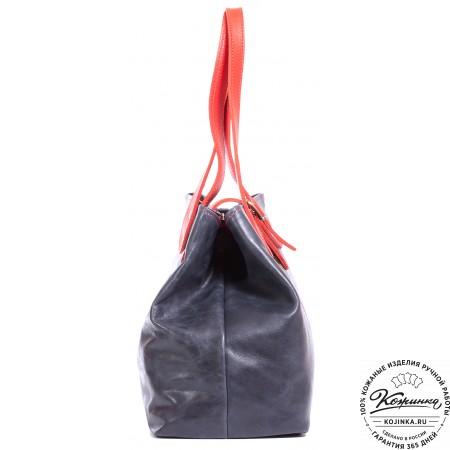 """Женская кожаная сумка """"Энни"""" (синяя)"""