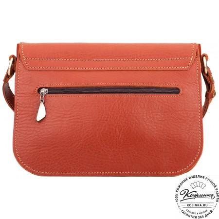 """Женская кожаная сумка """"Виола"""" (рыжая)"""