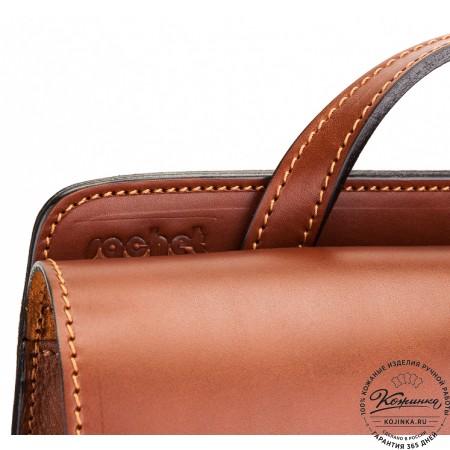 """Кожаный рюкзак """"Эдвард"""" (светло-коричневый)"""