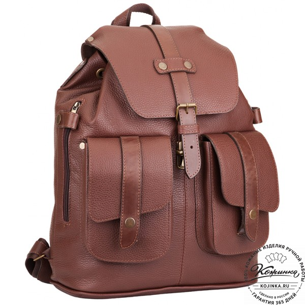 """Кожаный рюкзак ручной работы """"Эверест"""" (коричневый). фото 1"""