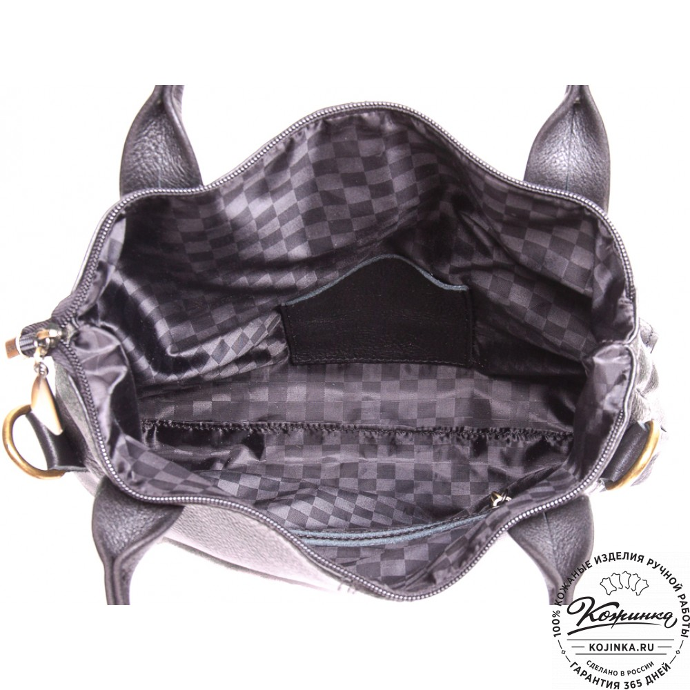 """Женская кожаная сумка """"Амели"""" (черная)"""