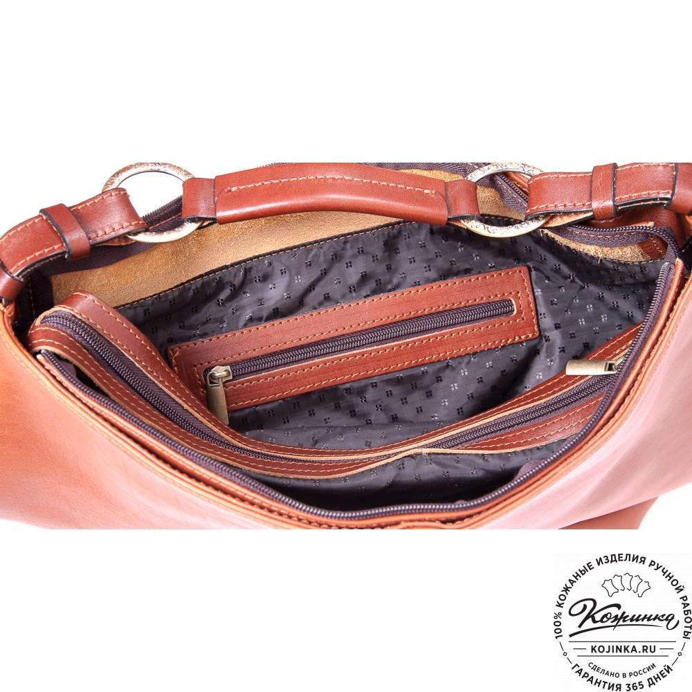 """Женская кожаная сумка """"Торба"""" (светло-коричневая)"""
