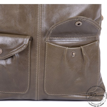 """Женская кожаная сумка """"Амели"""" (оливковая)"""