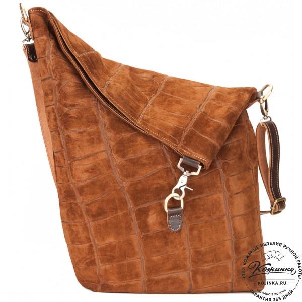 """Кожаная сумка """"Верона"""" (рыжая). фото 1"""