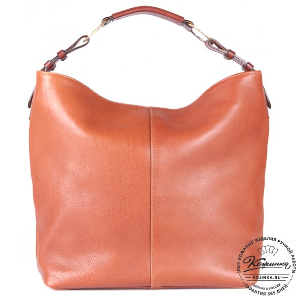 """Женская кожаная сумка """"Торба"""" (светло-коричневая). фото 1"""