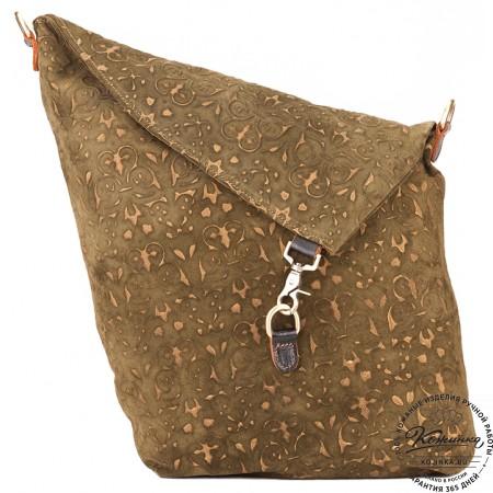 """Кожаная сумка """"Верона"""" (фисташковая)"""