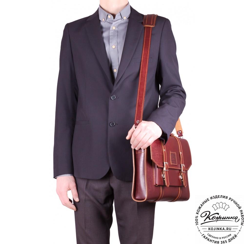 """Кожаный портфель """"Гордон"""" (коричневый)"""
