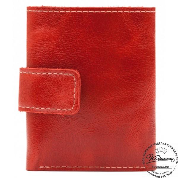 Кожаный купюрник (красный)