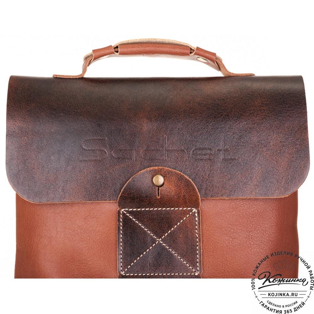 """Кожаный рюкзак """"Спэйс"""" (светло-коричневый)"""