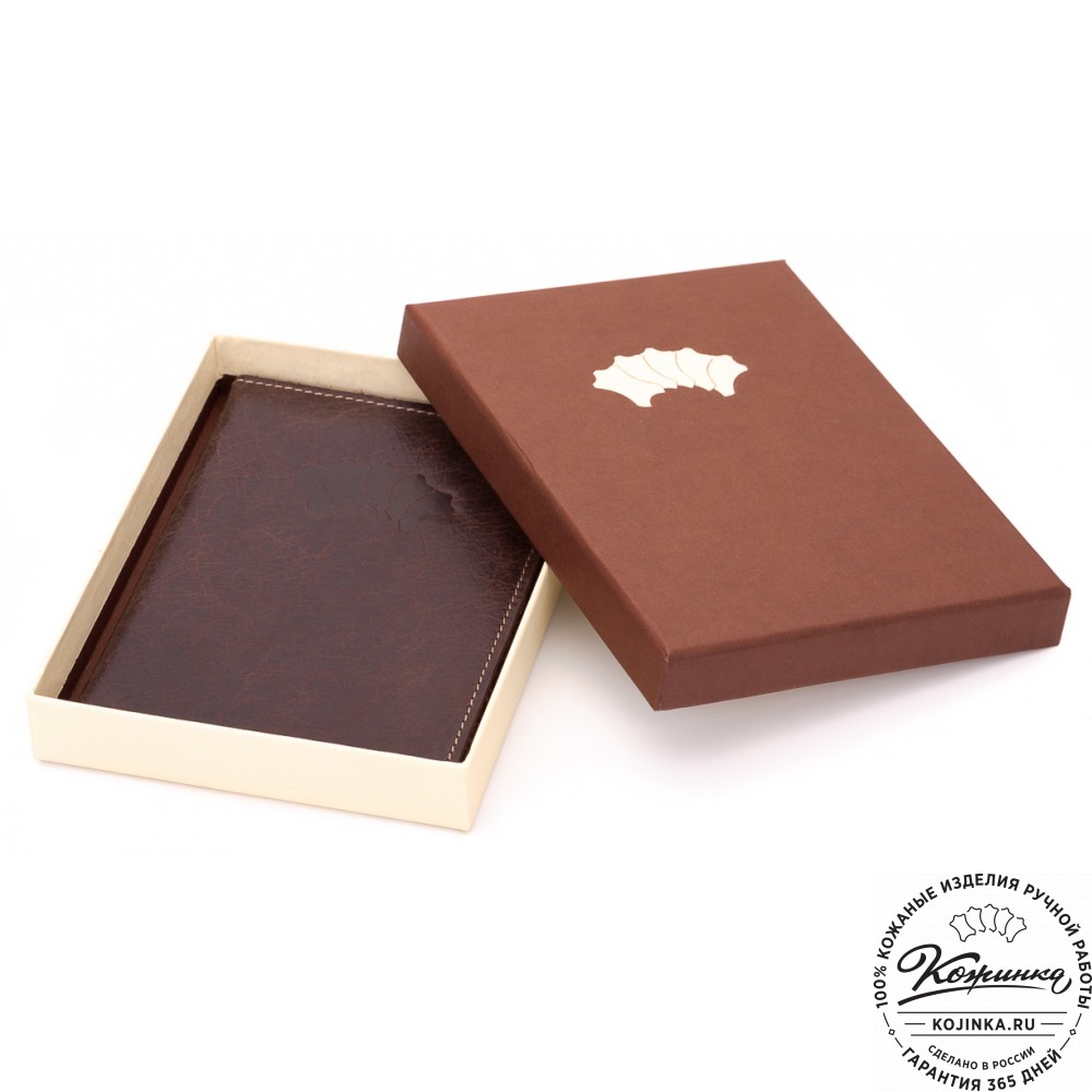 Кожаный бумажник водителя Турин (коричневый)